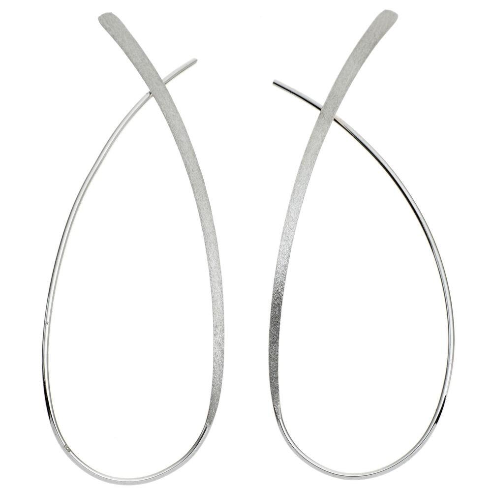 Ohrhänger silber  Durchzieh-Ohrhänger, Ohrringe 925 Sterling Silber rhodiniert ...