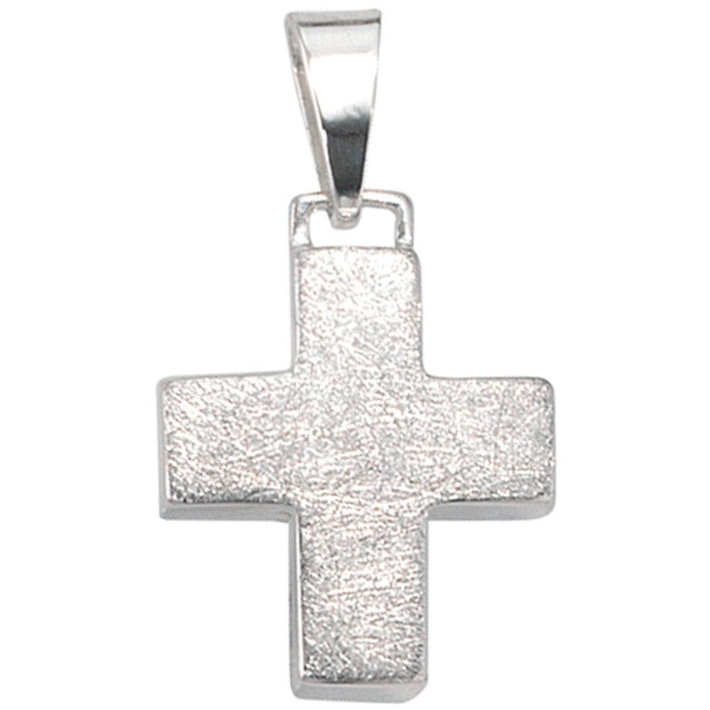 Kreuzanhänger  Anhänger Kreuz klein, eismatt, 925 Sterling Silber Schmuck ...