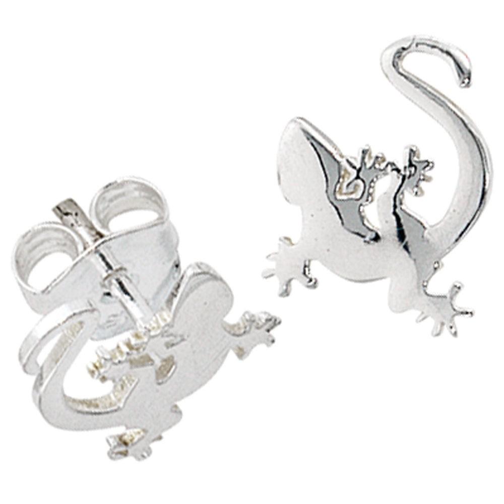 Silberschmuck ohrstecker  Ohrstecker Gecko, 925 Sterling Silber Schmuck, Ohrringe ...