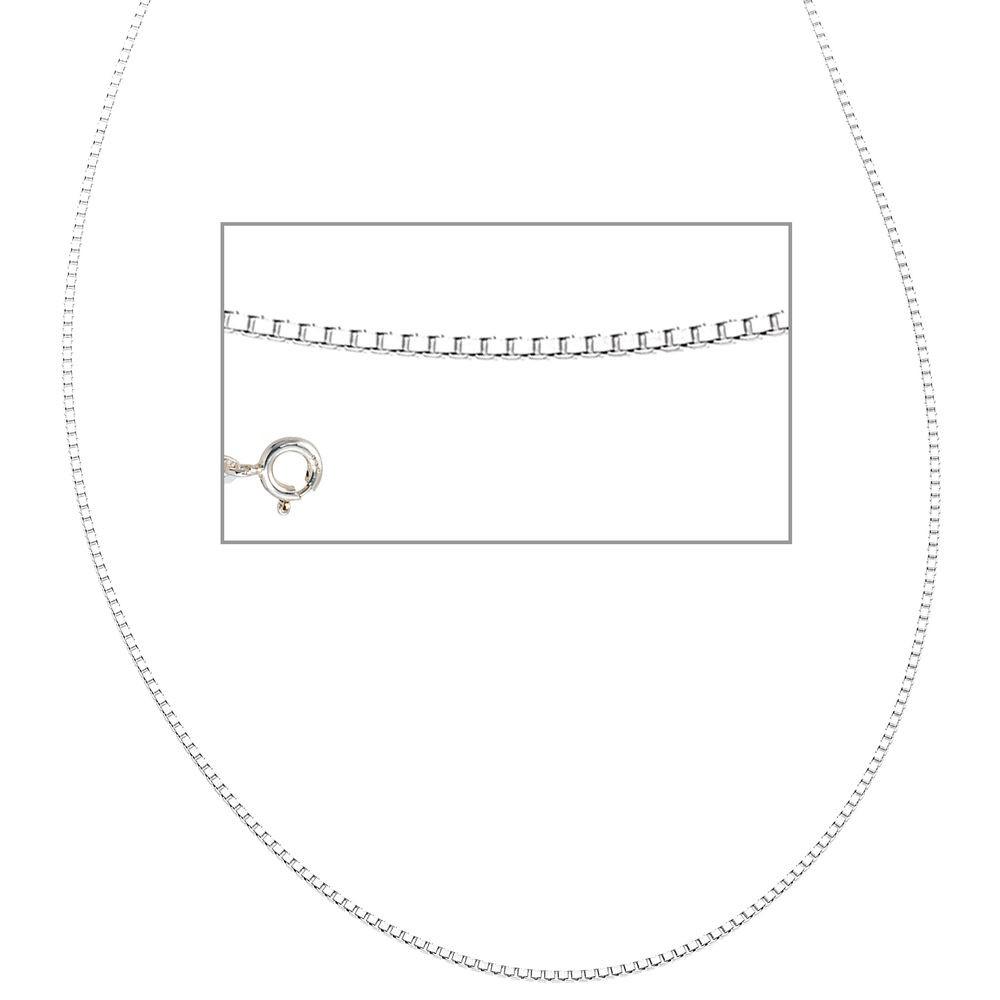venezianerkette 925 sterling silber rhodiniert 45 cm halskette kette federring silberkette. Black Bedroom Furniture Sets. Home Design Ideas