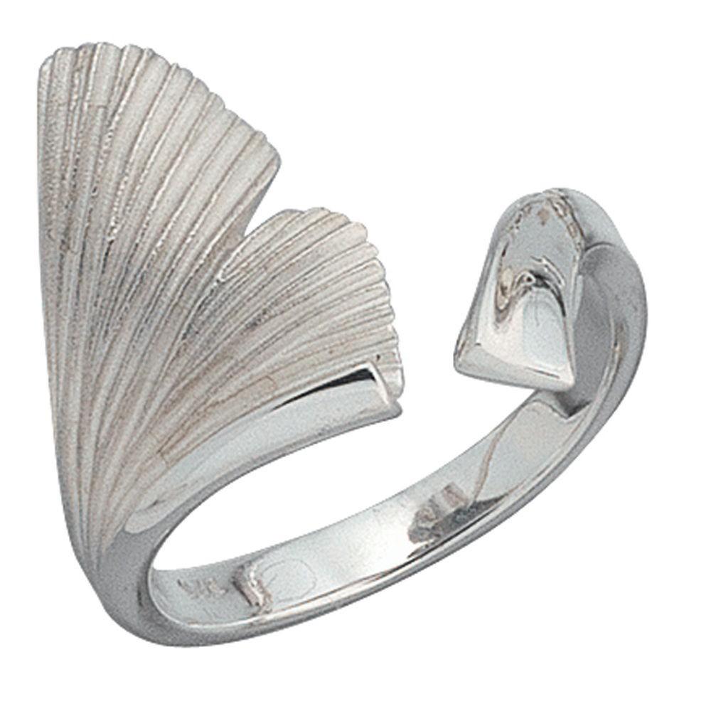 ring ginko damenring 925 sterling silber teilmattiert fingerring gingkoring silberschmuck. Black Bedroom Furniture Sets. Home Design Ideas