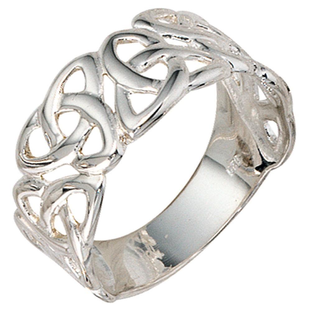 Ringe silber  Ring mit Knotenmuster Damenring 925 Sterling Silber Schmuck ...